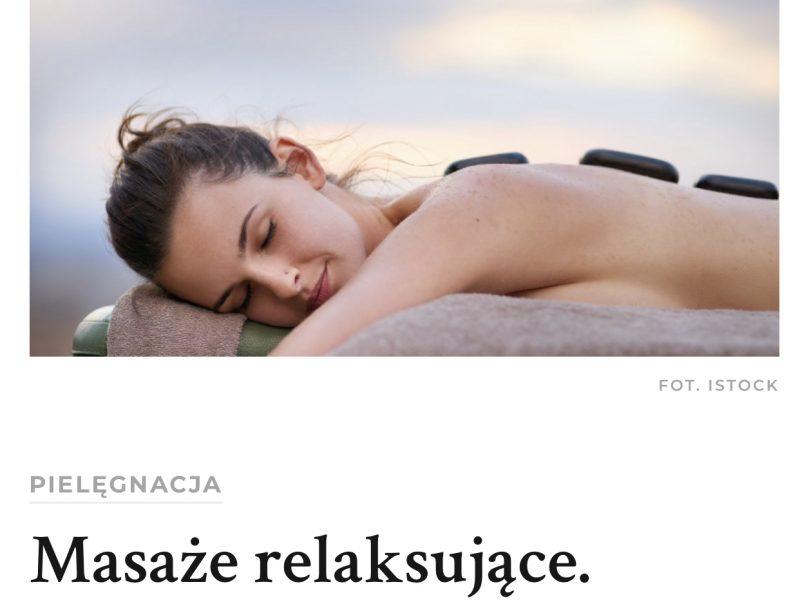 Masaże relaksujące, naturalne remedium na stres i zmeczenie